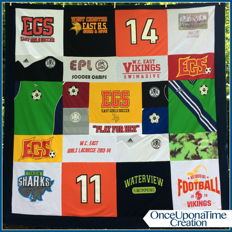 Soccer Jersey T-shirt Memory Blanket by Once Upon a Time Creation