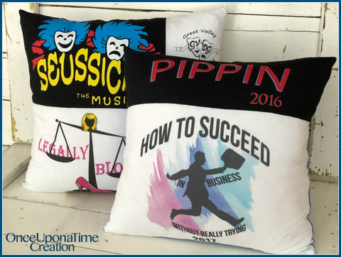 Theater T-shirt Memory Pillows by Once Upon a Time Creation