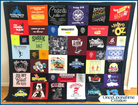 Theater T-shirt Memory Blanket by Once Upon a Time Creation
