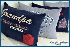 Tooth Fairy Keepsake Pillow made from shirts and ties by Once Upon a Time Creation