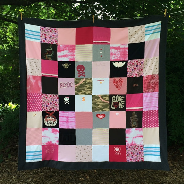 Baby Clothes Memory Blanket