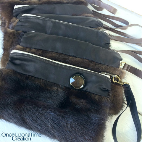 Keepsake Clutch made from a fur coat by Once Upon a Time Creation