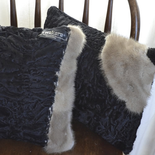 Memory Pillow made from a fur coat by Once Upon a Time Creation