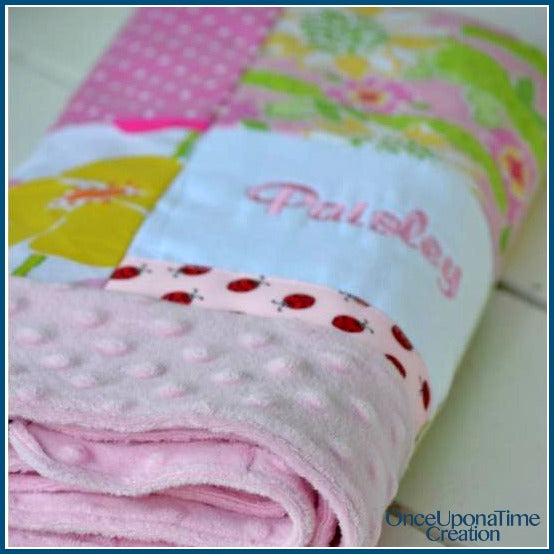 Baby Memory Blanket made from outgrown baby clothes by Once Upon a Time Creation