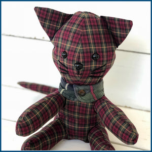 Memory Cat made from clothing by Once Upon a Time Creation