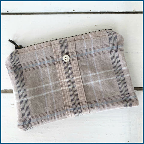Memory Clutch Keepsake made from clothing by Once Upon a Time Creation