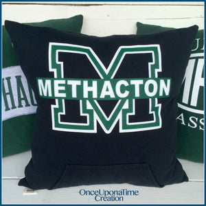 Memory Pillow made from a t-shirt and sweatshirt by Once Upon a Time Creation