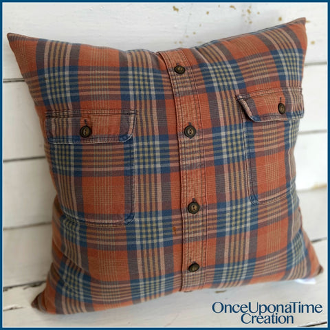 Memory Pillow made from clothing by Once Upon a Time Creation