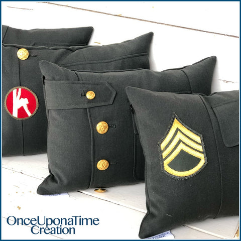 Military Uniform Memory Pillow
