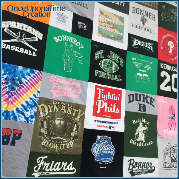 T-shirt Memory Blanket by Once Upon a Time Creation
