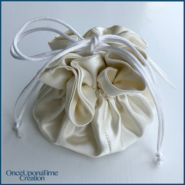 Keepsake Jewelry Pouch made from a wedding gown by Once Upon a Time Creation