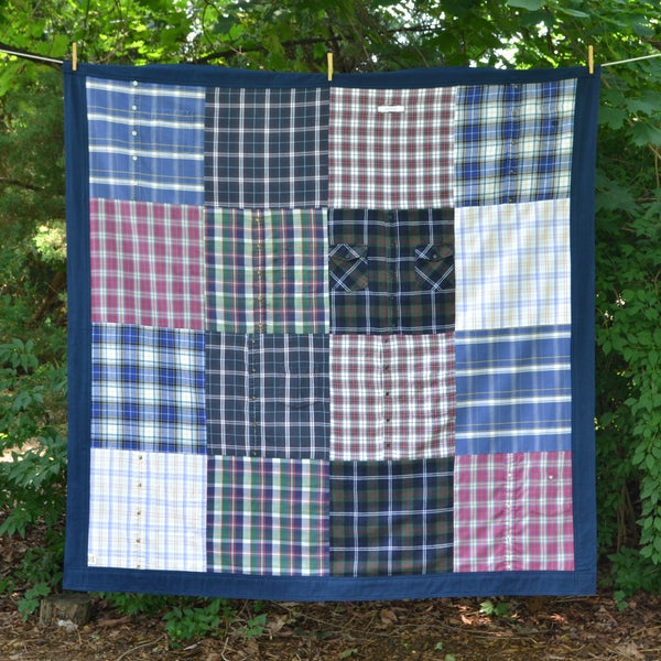 Remembrance Memory Blanket made from clothing by Once Upon a Time Creation