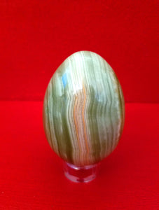 Green Banded Agate Egg