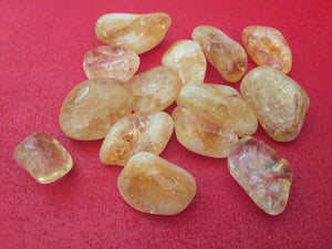 Citrine Tumbled Stone Set