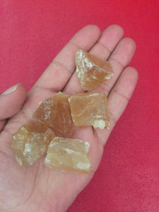 Golden Calcite Raw Stone Set