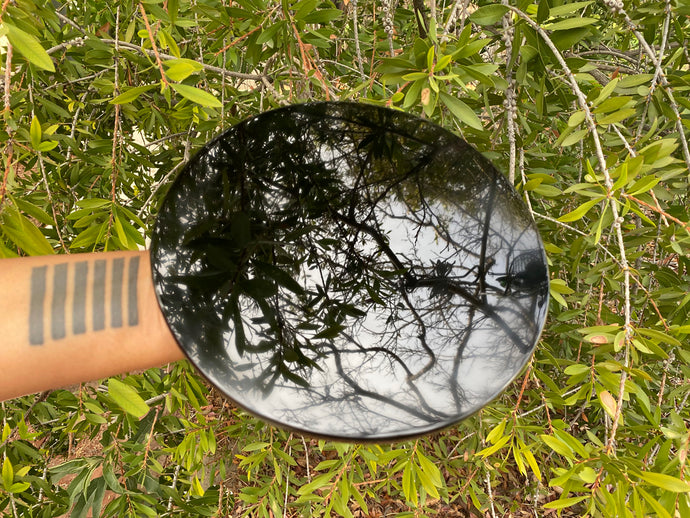 Obsidian Scrying Mirror - Large