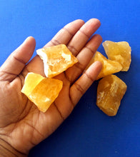Orange Calcite Raw Stone Set
