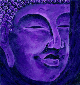 Purple Buddha Lined Journal