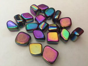 Rainbow Hematite Tumbled Stone Set