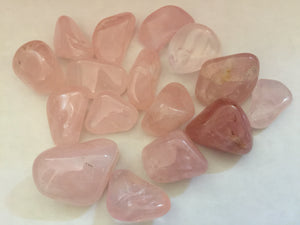 Rose Quartz Tumbled Stone Set
