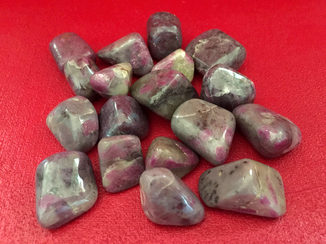 Ruby Moonstone Tumbled Crystals Set