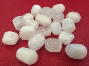 Selenite Tumbled Nugget Set