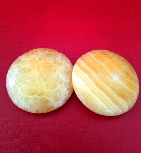 Yellow Serpentine Palmstone