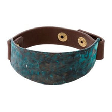 Faux Leather Snap Bracelet in 2 Colors