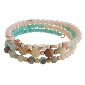Natural Stone Coil Bracelet in Two Colors