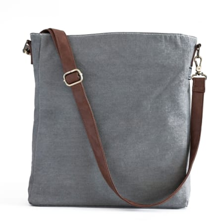 Handcrafted Waxed Ash Sling Crossbody