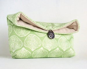 Spring Green Bag used for Makeup or Purse