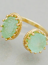Simulated Druzy End Adjustable Cuff Rings