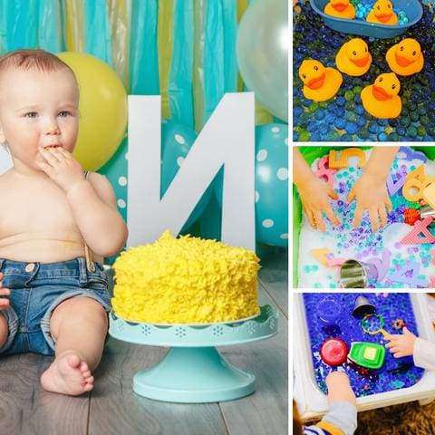 Messy play birthday parties for infants, toddlers and preschoolers!