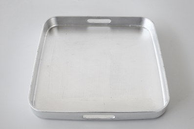 Square silver leaf tray