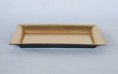 Small Rectangular Gold Leaf Tray