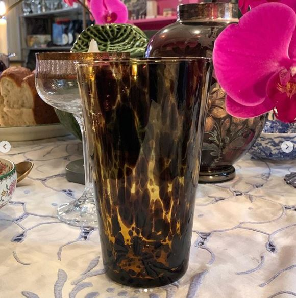 Tortoiseshell Glass - Tall
