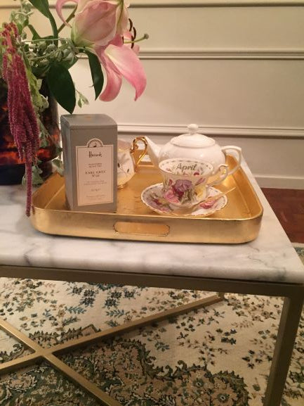Square gold leaf tray