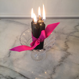 4 13cm Candles  - Black