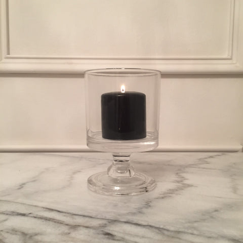 Black Pillar Candle | 8cm