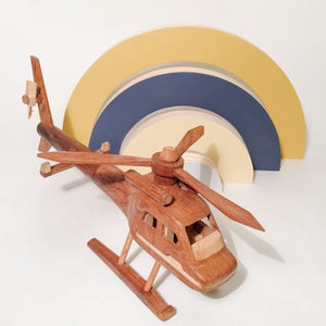Handmade Wood Helicopter