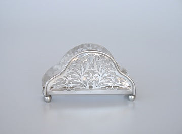 Pewter Filigree Serviette Holder