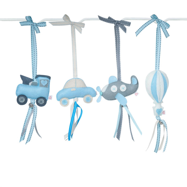 RUBY MELON | Heartfelt Dingle Dangle - Choo Choo (Blue & Grey)