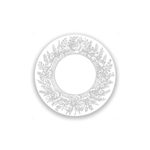Romantic Grey Wreath Disposable Coasters (36)