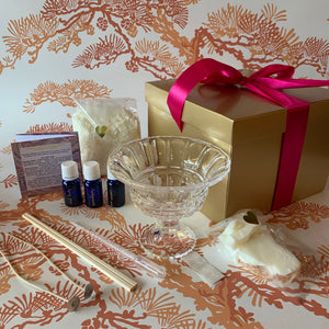 Soy shea butter moisturiser candle kit