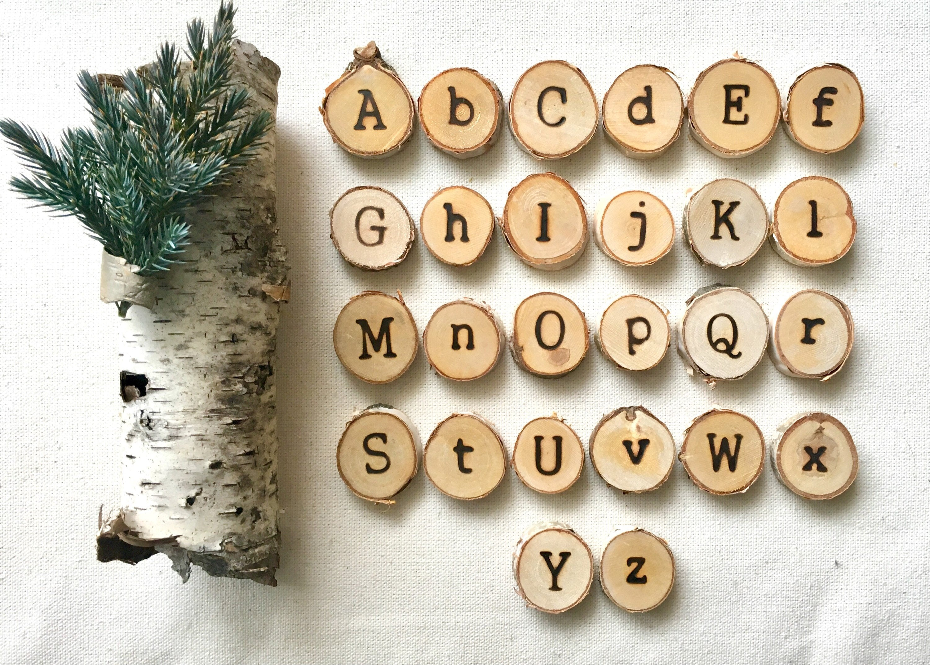 Double Sided Uppercase and Lowercase Alphabet