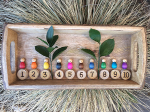 1 to 10 Numbers with Colourful Baby Peg Dolls