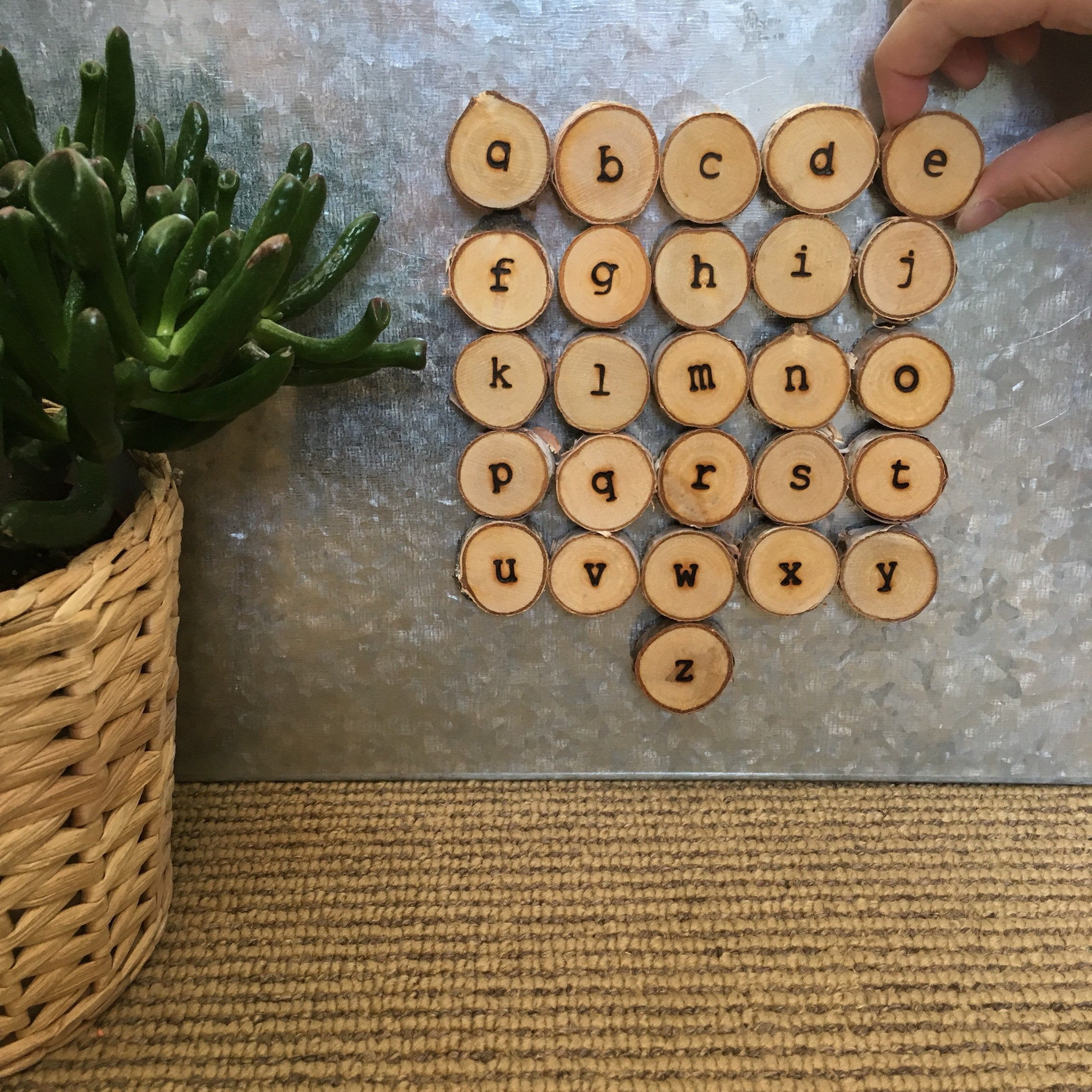 Mini Lowercase Alphabet (also available as magnets)