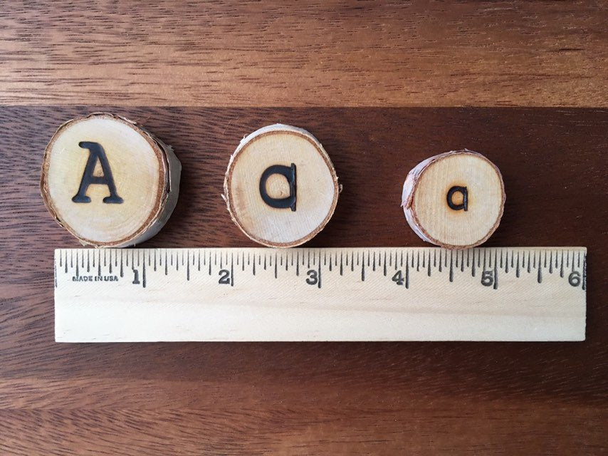 Uppercase Alphabet Tree Slices