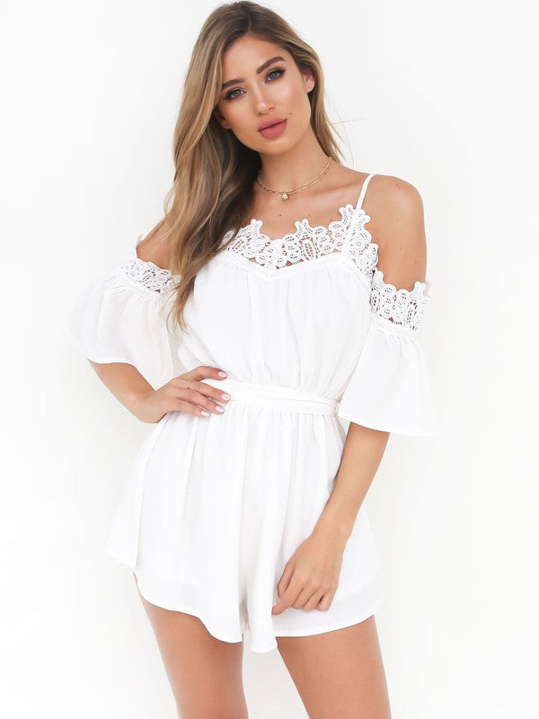 New Off The Shoulder Chiffon Romper