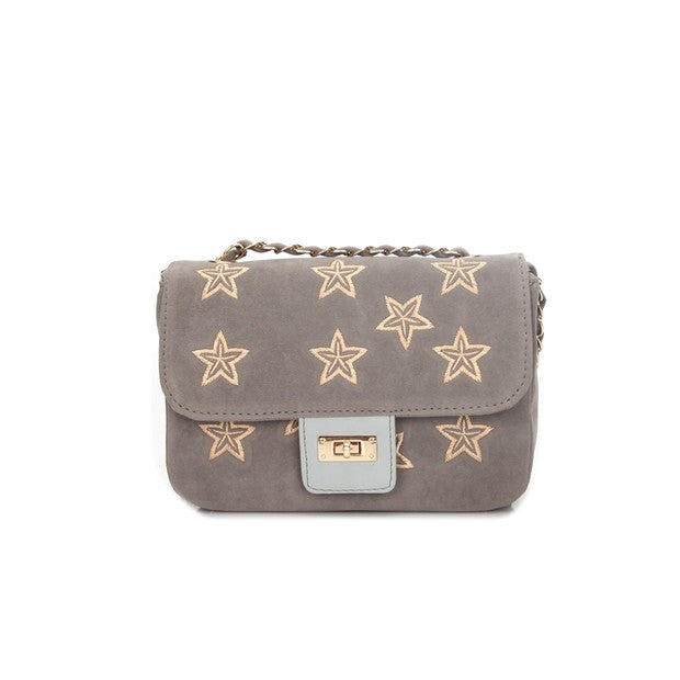 All Match Star Prints Hasp Crossbody Bag - My Fabulous Closet